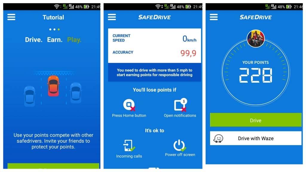 SafeDrive - aplicația care recompensează șoferii