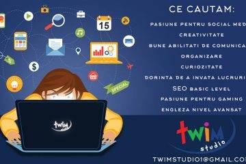 Twim Studio caută un Marketing Assistant!