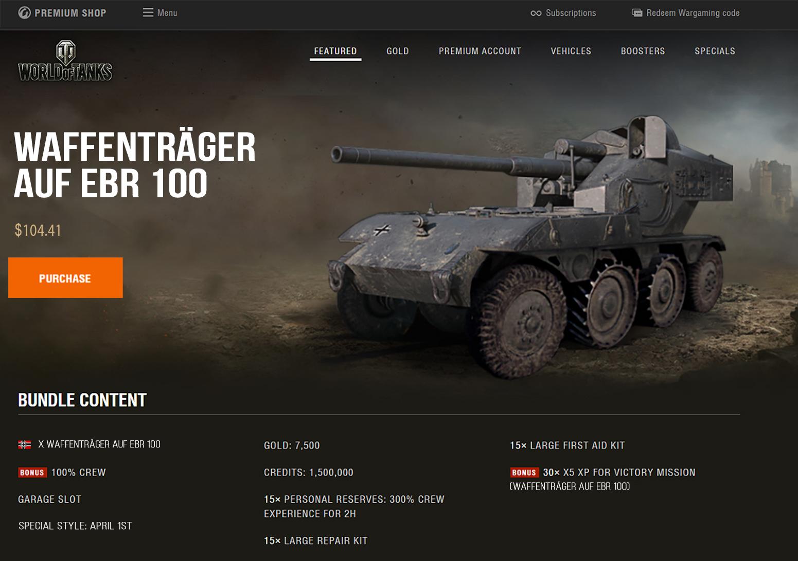 World-of-Tanks-Waffentrager-auf-ebr-100-April-Fools