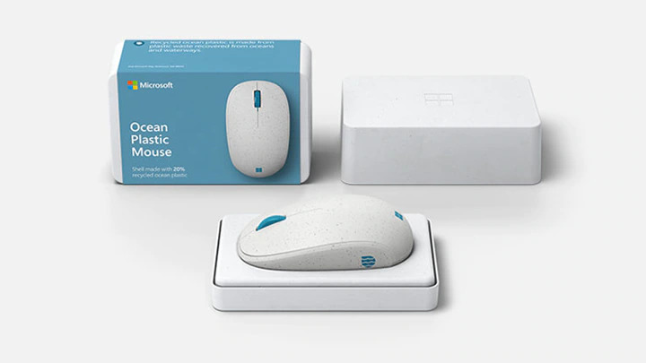 microsoft ocean plastic mouse box package